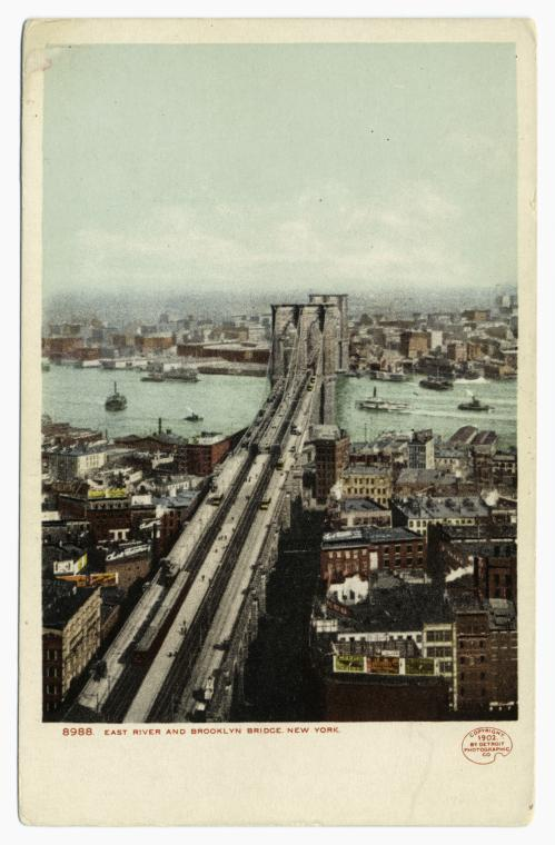 East River and Brooklyn Bridge, New York