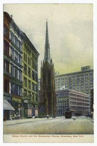 Grace Church and the Wanamaker Stores, Broadway, New York