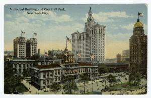 Municipal Building and City Hall Park, New York City.