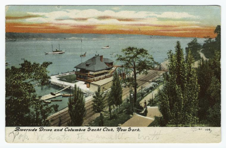 Riverside Drive and Columbia Yacht Club, New York.