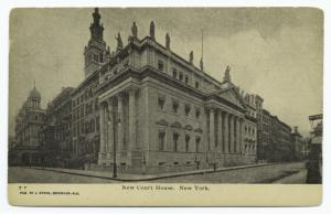 New Court house, New York.