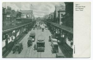 Elevated road and Bowery, New York.
