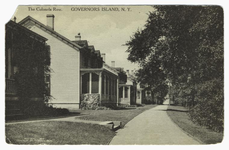 Colonels Row.  Governor's Island, N. Y.