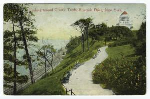 Looking toward Grant's Tomb, Riverside Drive, New York.
