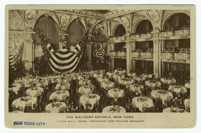 Waldorf-Astoria, New York.