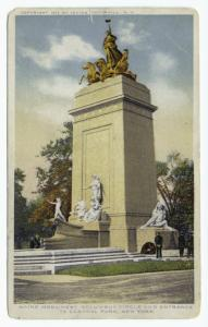 Maine Monument, Columbus Circle and Entrance to Central Park, New York.
