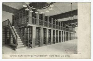 Patents room, New York Public Library - Snead standard stack.