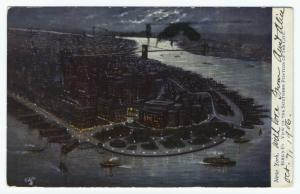 New York.  Bird's-eye view of the southern portion of the city.
