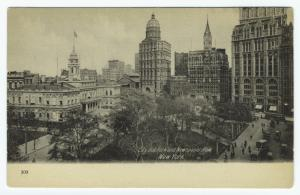 City Hall Park and Newspaper Row, New York.
