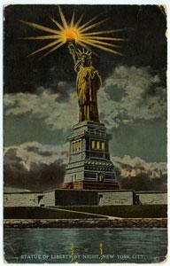 Statue of Liberty by night, Ne... Digital ID: 836991. New York Public Library