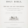 The Queen's Bible, Vol. I, [Title page]