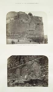 Exterior of the Haram-ash-Shárif : a. southern face of south east angle; b. triple gateway in south wall
