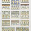 Architecture : couronnements & frises fleuronnées (nécropole de Thèbes --XVIIIe. - XXe. dynasties)