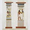 Architecture : pilasters ou colonnes quadrangulaires (Thèbes --XVIIIe. dynastie)
