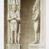 Architecture : piliers-caryatides du temple de Ramsès III (Medineh Thabou -- XXe. dynastie)
