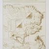 Architecture : plan topographique d'une partie de la nécropole de Memphis (pyramids de Gizeh)