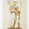 Sculpture : la déesse Anouké & Ramsès II (Talmis -- XIXe. dynastie)