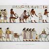 Peinture : arrivée d'une famille asiatique en Égypte (Beni Haçen -- XIIe. dynastie)