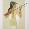 Peinture : joueuse de mandore (nécrolpole de Thèbes -- XVIIIe. dynastie)