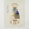 Peinture : portrait de la reine Nebto, fille de Ramsès-Meïamoun (XIXe. dynastie)