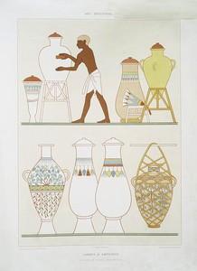 Art industriel : jarres et amphores (nécropole de Thèbes -- XVIIIe. dynastie)