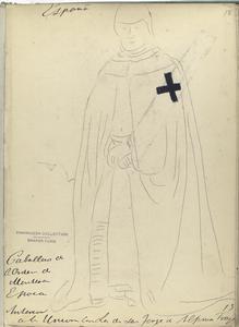 Caballero del Orden de Montesa []. Traje de guerra.  ([Año] 1317?).
