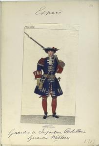 Guardia de infanteria Castellana, Guardia Wallona. 1717