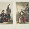 Chief executioner and assistant, of his majesty the late Shah; Mahomed Naib Shurreef, a celebrated Kuzzilbach chief of Caubul, and his peshkhidmut, or head attendant