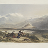 """Bala Hissar and city of Kabul, with the British cantonments from the """"Ba Maroo"""" hill. Hostilities commencing."""