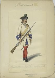 Musketier v. Rgt. Deutschmeister, 1710