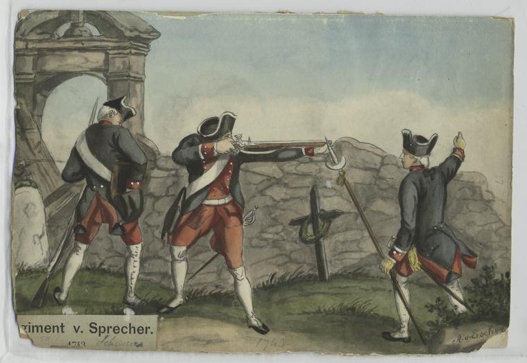 Fascinating Historical Picture of Albert von Escher in 1741