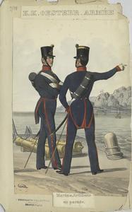 Marine Artillerie en parade
