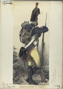 Grenadier a pied. (Garde de Reg. Joseph Napoleon). 1812