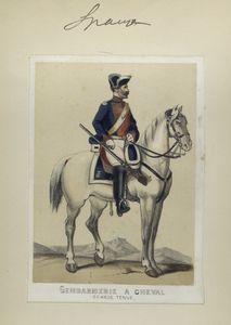 Gendarmerie à cheval  (grande tenue). 1860