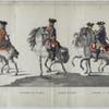 Guardes Dragonders by den ingang van de Delftse Weg. 1752