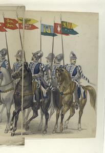[Mounted troops bearing standards], 1590