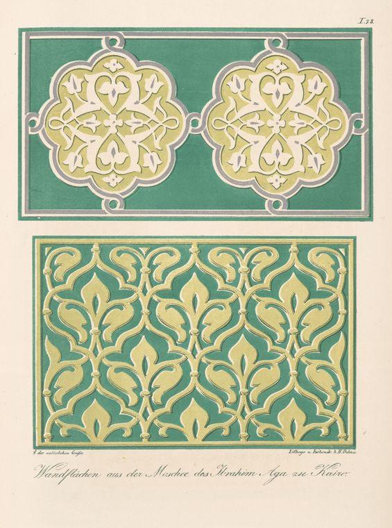 Arabische und Alt-Italienische Bau-Verzierungen <br> F. M. Hessemer. 1842