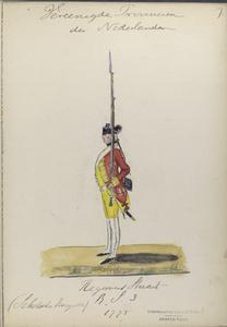 Regiment Stuart R. S. 3. Schotsche Brigade. 1775