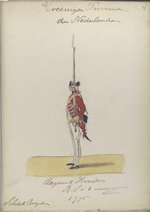 Regiment Houston  R. S. no. 1.  (Schotsche Brigade). 1775