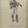 A Coromantyn Free Negro, or Banger, armed. Fourgeoud -Mariniers (Regiment no. 21), in Suriname van tot 1777.