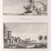 1. Vue d'une Mosquée près Rossette [Rosetta] (top); 2. Vue  de Rossette [Rosetta] (bottom).