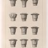 Divers Chapiteaux de colonnes égyptiennes.