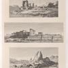 1. Temple près l'isle de Philæ. 2. Vue des temples del'isle de Philæ. 3. Rochers de granit près l'isle de Philæ.