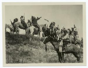 Planning a raid, Ogalola [i.e., Ogallala] Sioux, South Dakota, Pine Ridge Reservation
