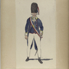 Nationale Guarde der Stad Amsterdam. Grenadier - officier. 1795