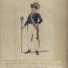 Nationale Guarde der Stad Amsterdam. Tamboer - major van de Infanterie. 1795