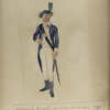 Nationale Guarde der Stad Amsterdam. Jager opperofficier. 1795