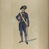 Nationale Guarde der Stad Amsterdam. Officier van de Artillerij. 1795