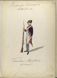 Vereenigde Provincien der Nederlanden. Fusilier Mechle[...]