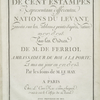 Recueil de cent estampes representant differentes nations du Levant, [Title page]